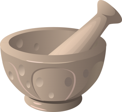 PNG images, PNGs, Mortar, Pestle, herbs, (13).png