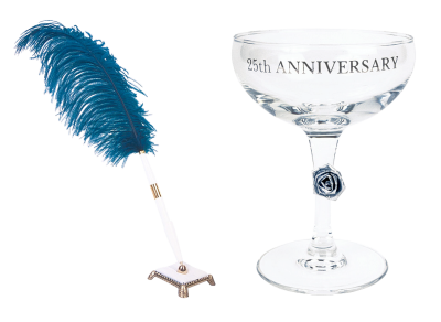 Anniversary, Glass, Pen, Champagne, Holiday, 25 YearsAnniversary Glass Pen Champagne Holiday 25 Years.png