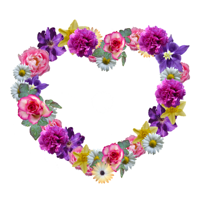 Flowers, Heart, Mother'S Day, Floral Wreath, GreetingFlowers Heart Mother's Day Floral Wreath Greeting.png