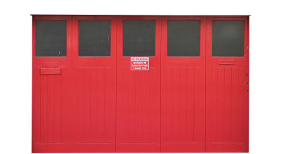 PSD files: Large red fire doors