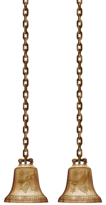 Bells, Chains, Isolated, Christmas, Metal, GoldenBells Chains Isolated Christmas.png
