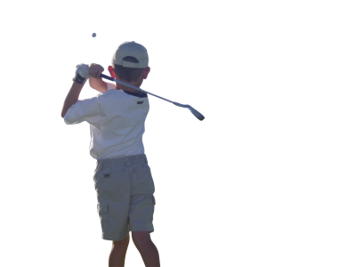 Golfer PSD file with small and medium free transparent PNG images