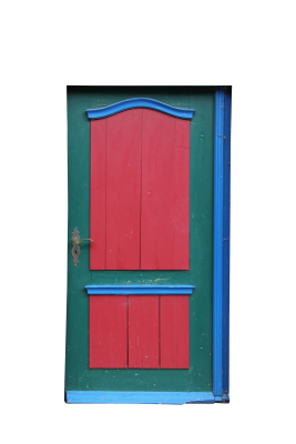 PSD files: Red green doors