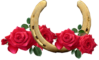 Horse Shoe, Red Roses, Lucky, RomanticHorse Shoe Red Roses Lucky Romantic.png