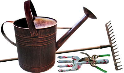 watering-can png images, transparent gardening images, rake, tools, tool, garden, gardening tools, sheers,