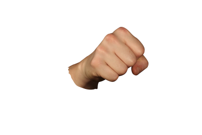 Fist  PSD file with small and medium free transparent PNG images
