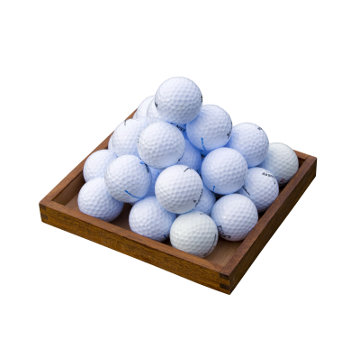 Golf balls PSD file with small and medium free transparent PNG images