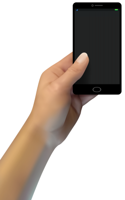 PNG images, PNGs, Phone in hand, Holding a phone, Hold Phone,  (56).png