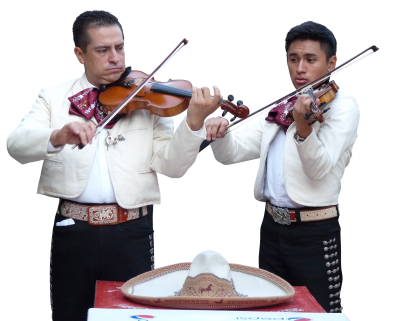 Mariachis band PSD file with small and medium free transparent PNG images