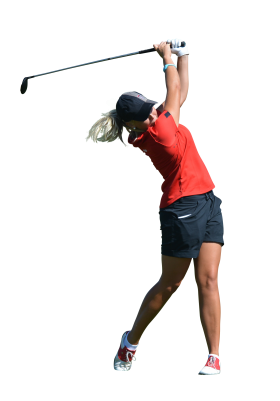 Golf player PSD file with small and medium free transparent PNG images