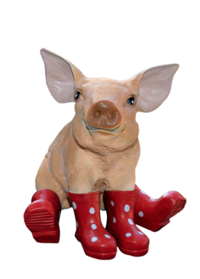Pig, Sitting, Lucky Pig, Decoration, Garden FigurinesPig Sitting Lucky Pig Decoration Garden Figurines.png