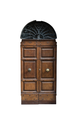 PSD files: Double brown doors