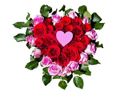 Flowers, Heart, Roses, Heart FlowersFlowers Heart Roses Heart Flowers.png