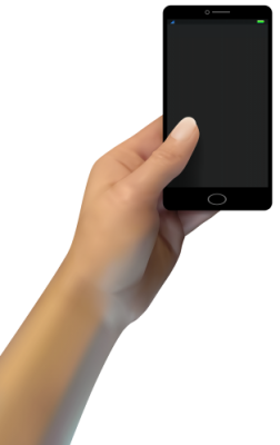 PNG images, PNGs, Phone in hand, Holding a phone, Hold Phone,  (57).png