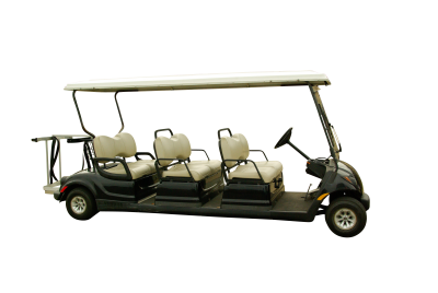 Golf cart PSD file with attached free transparent PNG images
